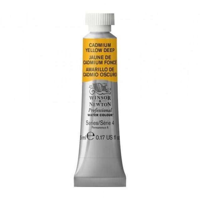 Winsor & Newton 5ml Professional Ακουαρέλα 111 Cadmium Yellow Deep Series 4