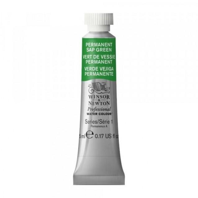 Winsor & Newton 5ml Professional Ακουαρέλα 503 Permanent Sap Green Series 1
