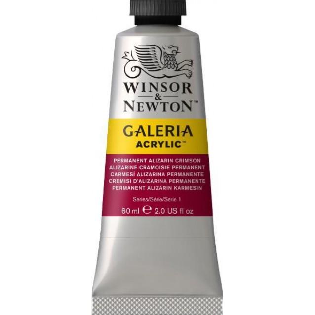 Winsor & Newton 60ml Galeria Acrylic Permanent Alizarin Crimson