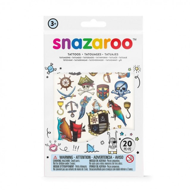 Snazaroo 20 Αυτοκόλλητα Tατουάζ Pirates