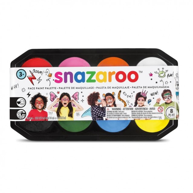 Snazaroo Επαγγελματικη Παλέτα Facepaint 8 X 18 ml