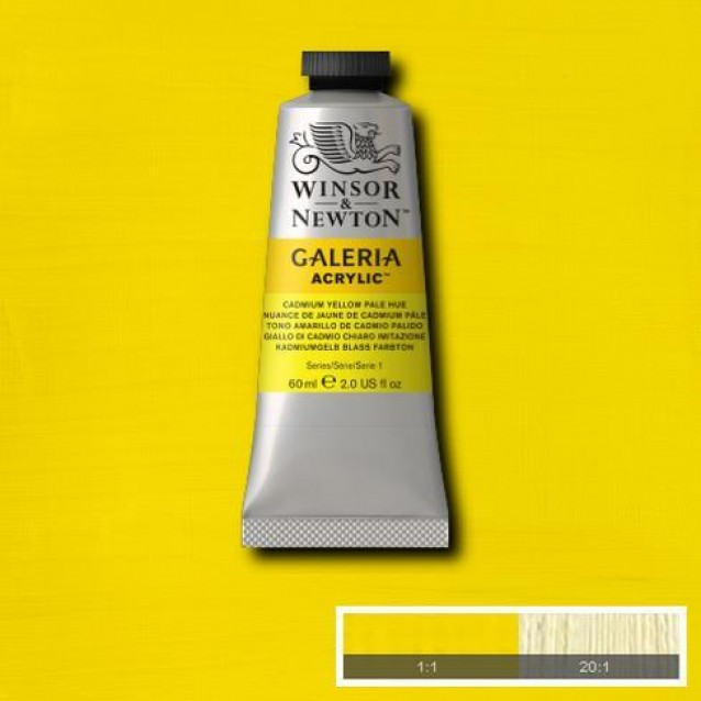 Winsor & Newton 60ml Galeria Acrylic Cadmium Yellow Pale Hue