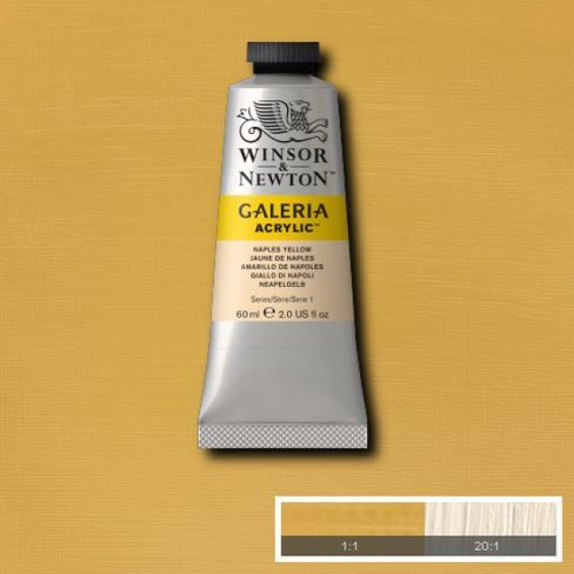 Winsor & Newton 60ml Galeria Acrylic Naples Yellow