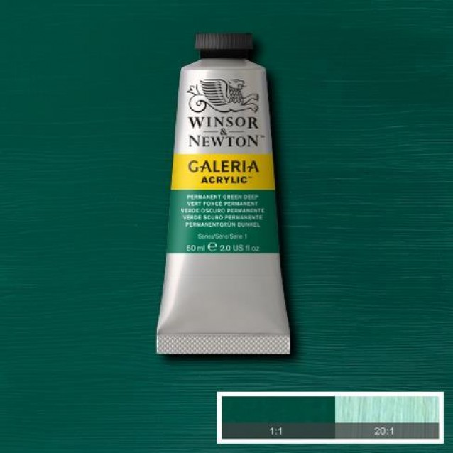 Winsor & Newton 60ml Galeria Acrylic Permanent Green Deep