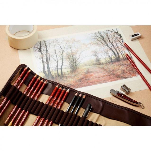 Derwent 6 Χρωματιστά Μολύβια Drawing