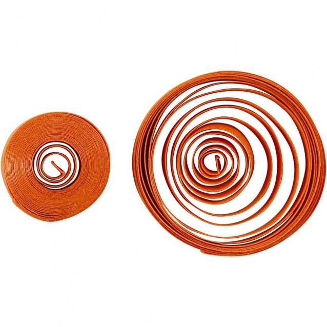 100 Λωρίδες Χαρτιού Quilling 78x0,5 cm Κόκκινο, Πορτοκαλί, Κίτρινο
