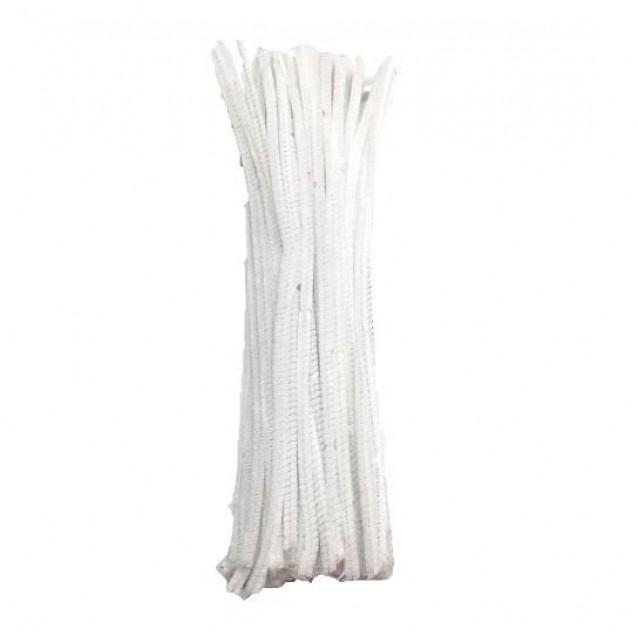 10 Σύρματα Πίπας 50cm Λευκό