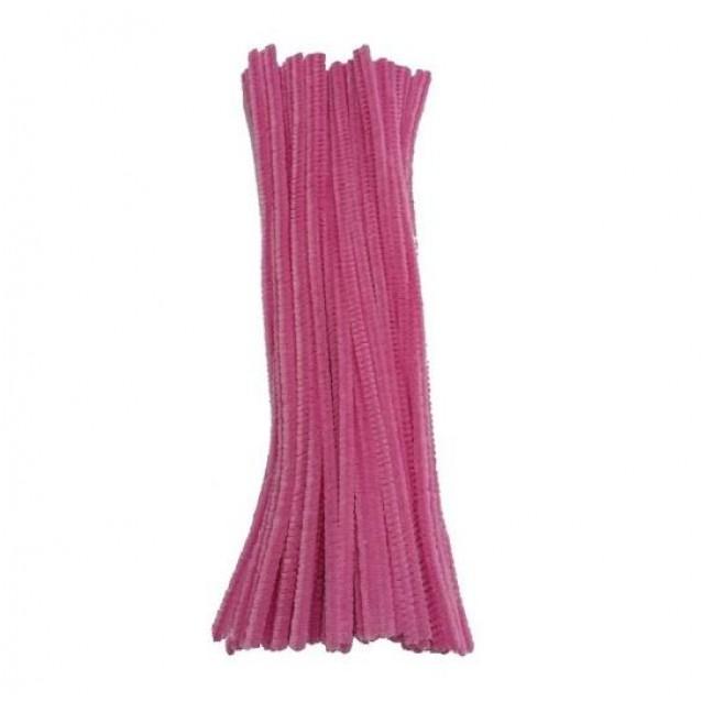 10 Σύρματα Πίπας 50cm Ροζ