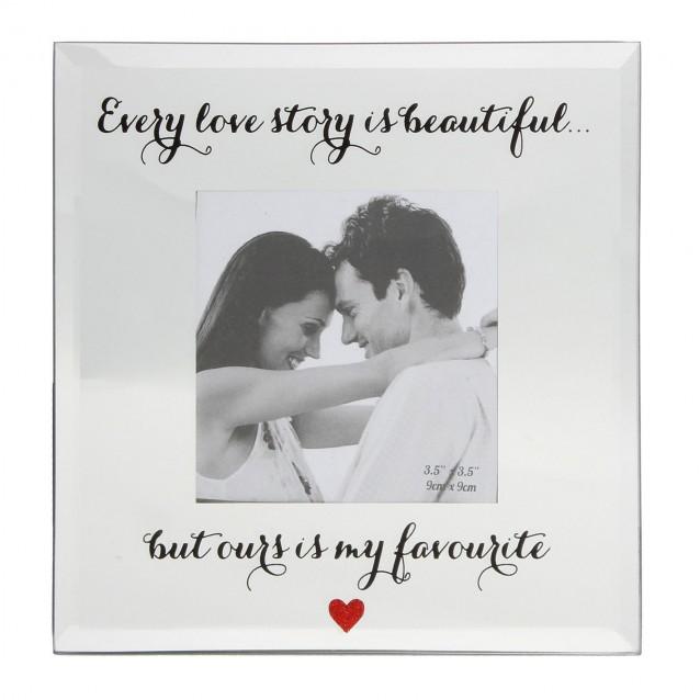 Κορνίζα Καθρέπτης Every Love Story 10Χ10cm