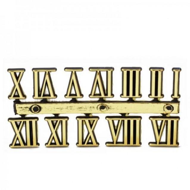 Πλαστικοί Αυτοκόλλητοι Λατινικοί Αριθμοί Ρολογιού Antique Gold (ύψος 15mm)