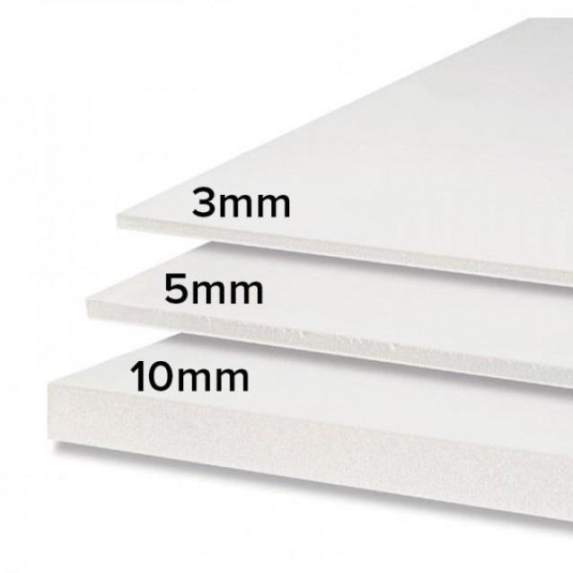 Μακετόχαρτο (Foam Board) 10mm 50x70cm Λευκό
