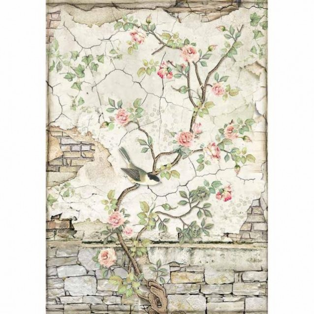 Stamperia Ριζόχαρτο Decoupage A4 Little Bird on Branch