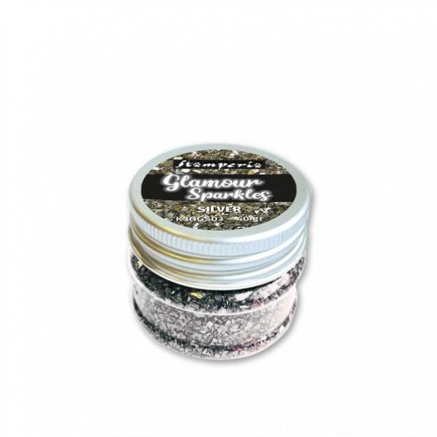 Stamperia 40gr Glamour Sparkles Silver