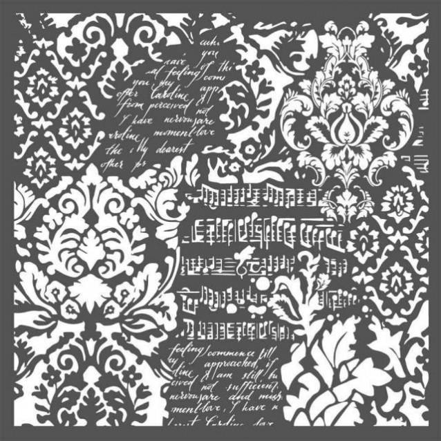 Stamperia Χονδρό Στένσιλ 0,5mm 30x30cm Wallpaper Fantasy