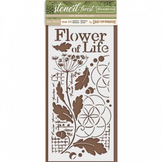 Stamperia Χονδρό Στένσιλ 0,5mm 12x25cm Flower of Life