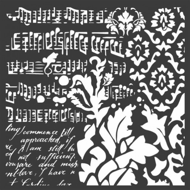 Stamperia Χονδρό Στένσιλ 0,5mm 18x18cm Wallpaper Fantasy