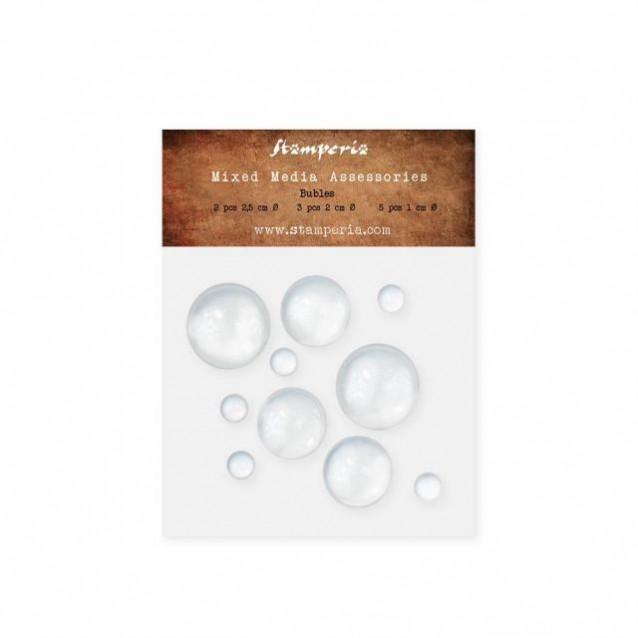 Stamperia 10 Γυαλάκια Bubbles σε Διάφορες Διαμέτρους
