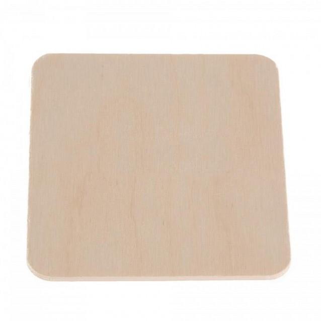 Ξύλινο Τετράγωνο Σουβέρ 9x9cm (πάχος 3mm)