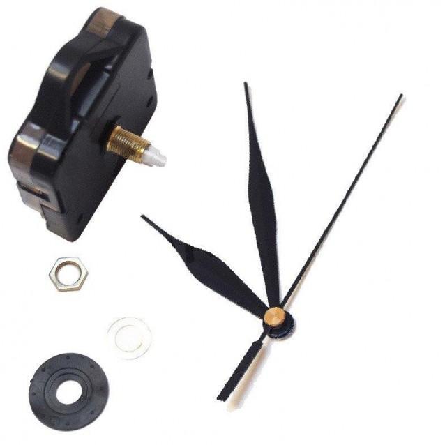 Μηχανισμός Ρολογιού με Μαύρους Δείκτες 9,2cm