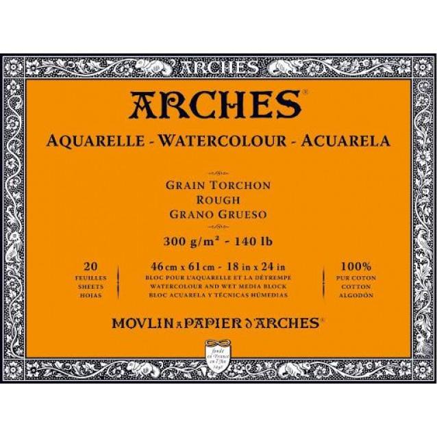 Arches Μπλοκ Ακουαρέλας Rough Grain (Τραχύ) 300gr 46x61cm 20 φύλλων