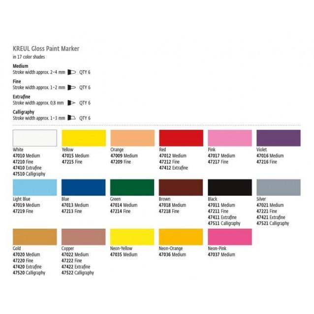 Kreul Paint Marker Extra Fine 0.8mm White