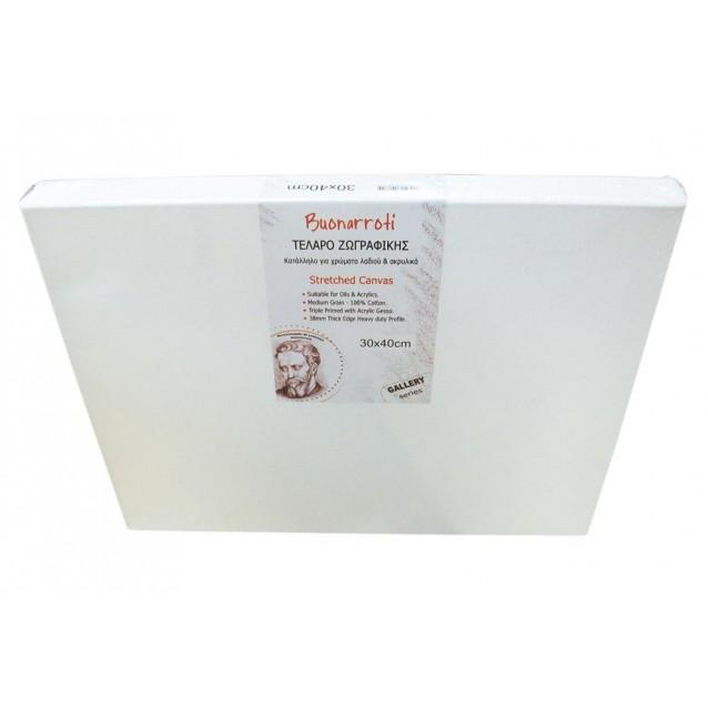 Buonarroti Χονδρό Τελάρο Ζωγραφικής (Box) 60x80cm με βαμβακερό καμβά