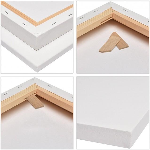 Buonarroti Χονδρό Τελάρο Ζωγραφικής (Box) 80x120cm με βαμβακερό καμβά