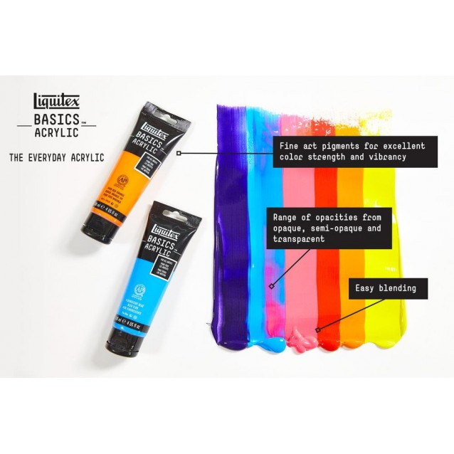 Liquitex Basics 118ml Acrylic 163 Cadmium Yellow Deep Hue