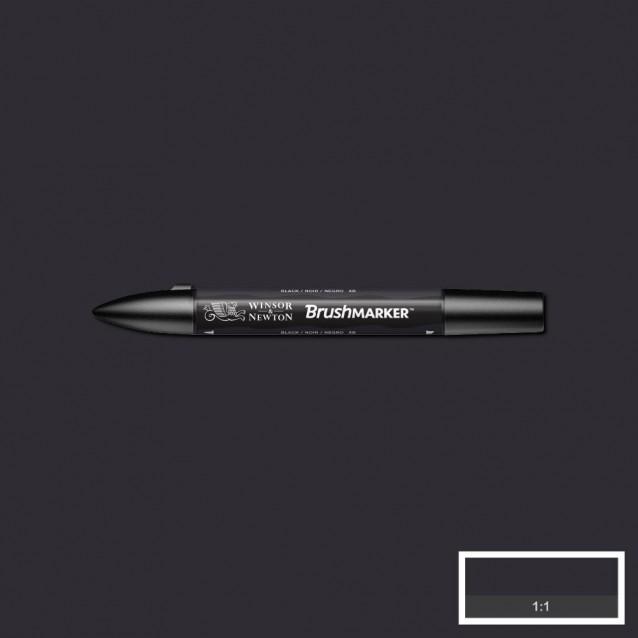 Winsor & Newton Μαρκαδόρος Promarker Brush Black