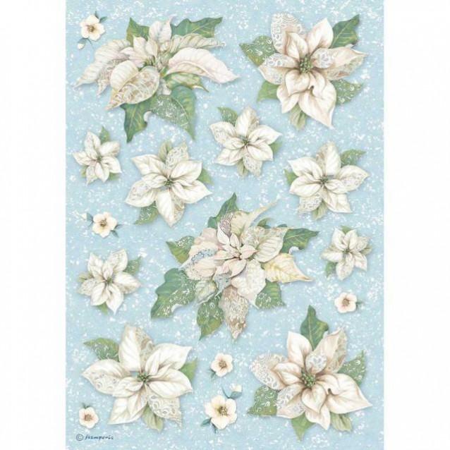 Stamperia Ριζόχαρτο Decoupage A4 Poinsettia Texture
