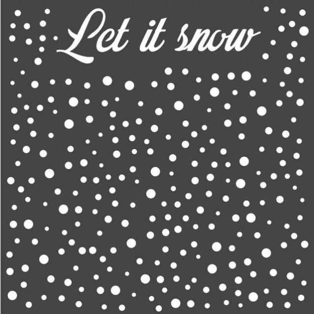 Stamperia Χονδρό Στένσιλ 0,5mm 18x18cm Lets Snow