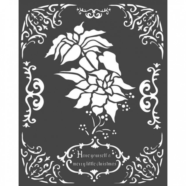 Stamperia Χονδρό Στένσιλ 0,5mm 20x25cm Poinsettia