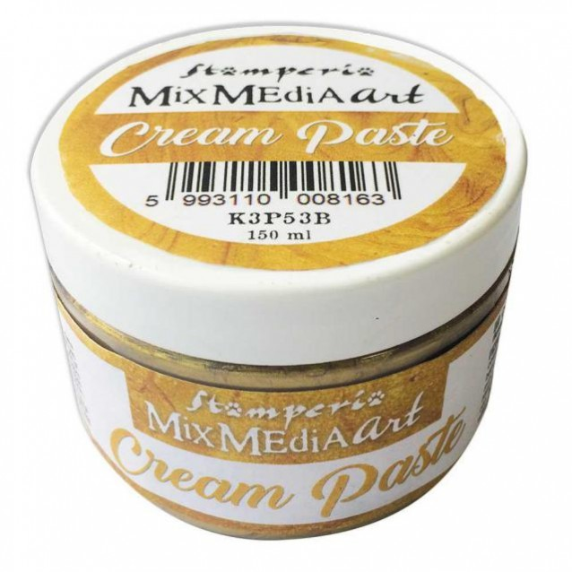 Stamperia 150ml Cream Paste Metallic Gold