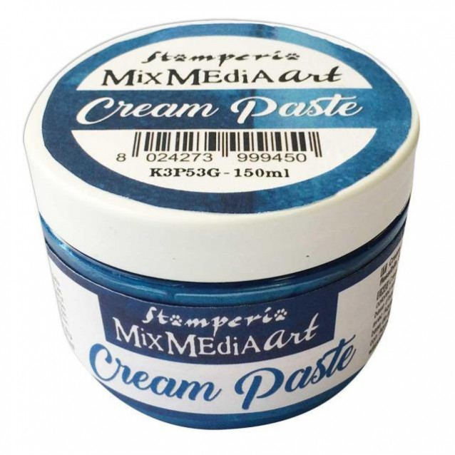 Stamperia 150ml Cream Paste Metallic Blue