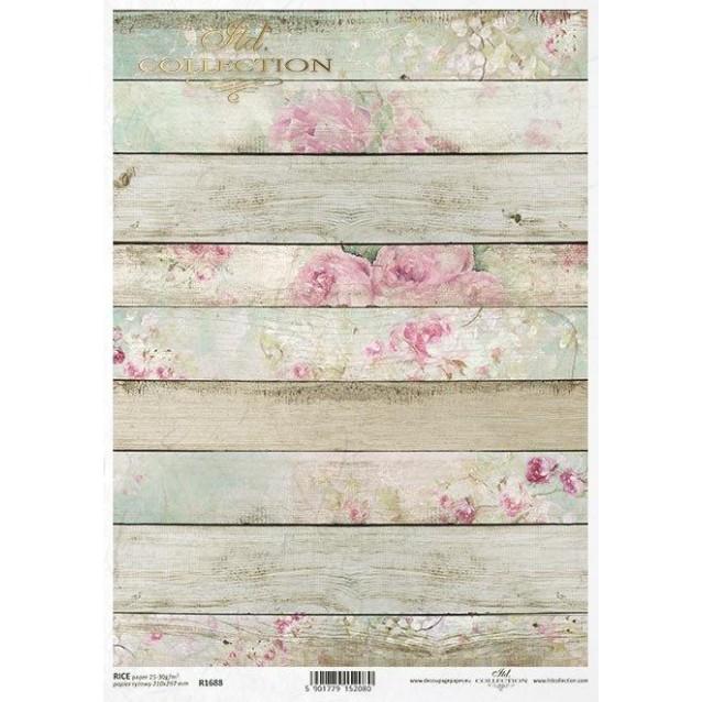 Itd. Collection Ριζόχαρτο Decoupage A4 (21x29,7cm) Shabby Chic Planks