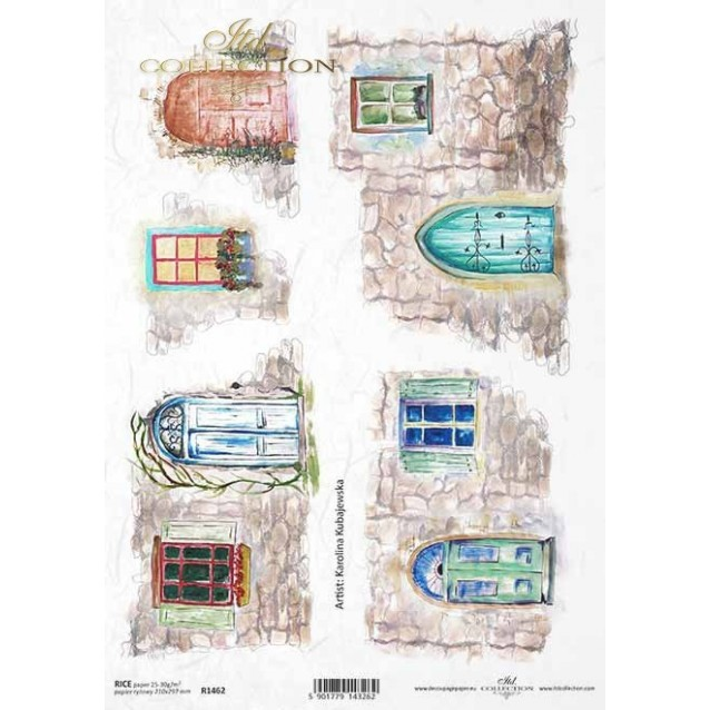 Itd. Collection Ριζόχαρτο Decoupage A4 (21x29,7cm) Windows And Doors