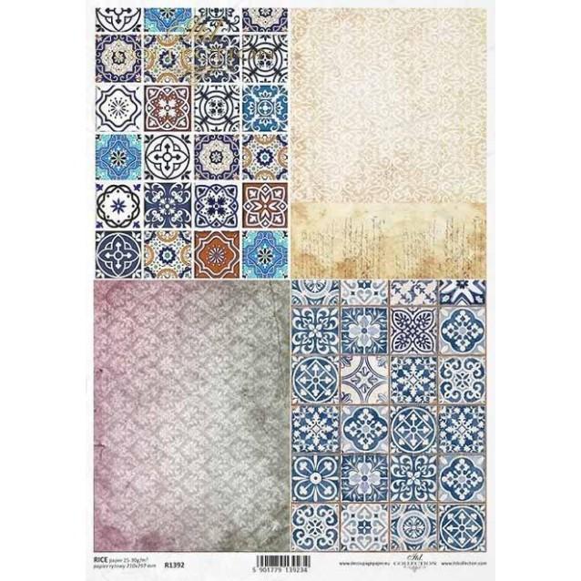 Itd. Collection Ριζόχαρτο Decoupage A4 (21x29,7cm) Ceramic Tiles I