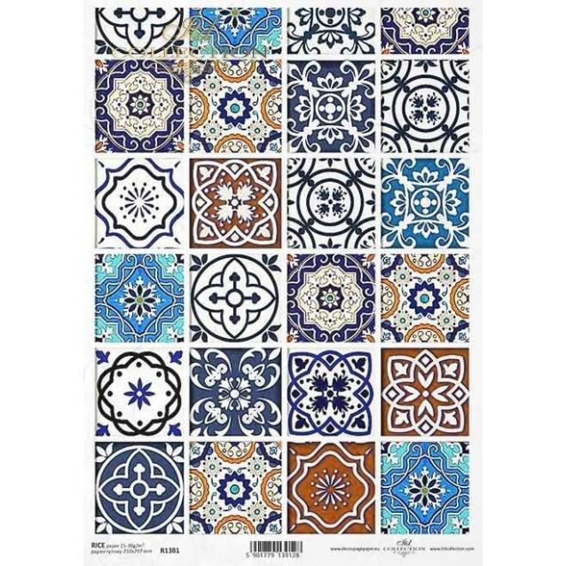 Itd. Collection Ριζόχαρτο Decoupage A4 (21x29,7cm) Ceramic Tiles III