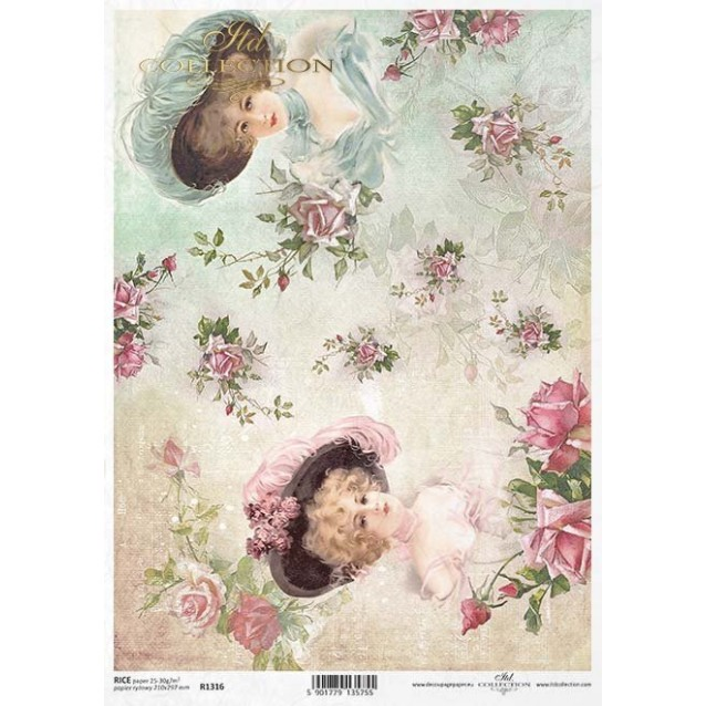 Itd. Collection Ριζόχαρτο Decoupage A4 (21x29,7cm) Ladies And Roses