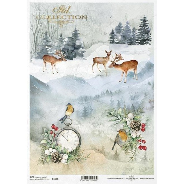 Itd. Collection Ριζόχαρτο Decoupage A4 (21x29,7cm) Winter Collage