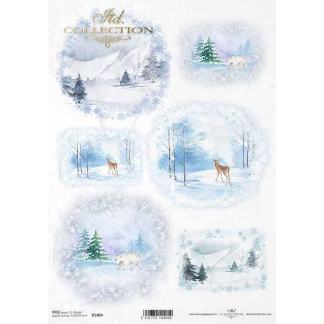 Itd. Collection Ριζόχαρτο Decoupage A4 (21x29,7cm) Christmas - Winter Pictures