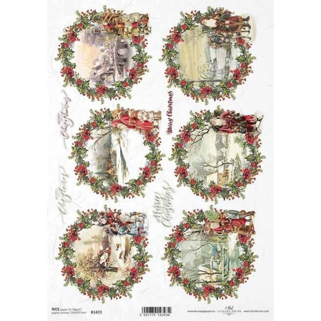 Itd. Collection Ριζόχαρτο Decoupage A4 (21x29,7cm) Christmas - Winter Pictures II