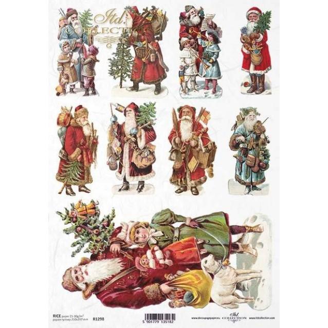 Itd. Collection Ριζόχαρτο Decoupage A4 (21x29,7cm) Christmas - Santa Claus