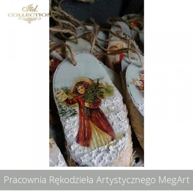 Itd. Collection Ριζόχαρτο Decoupage A4 (21x29,7cm) Santa Claus And Children