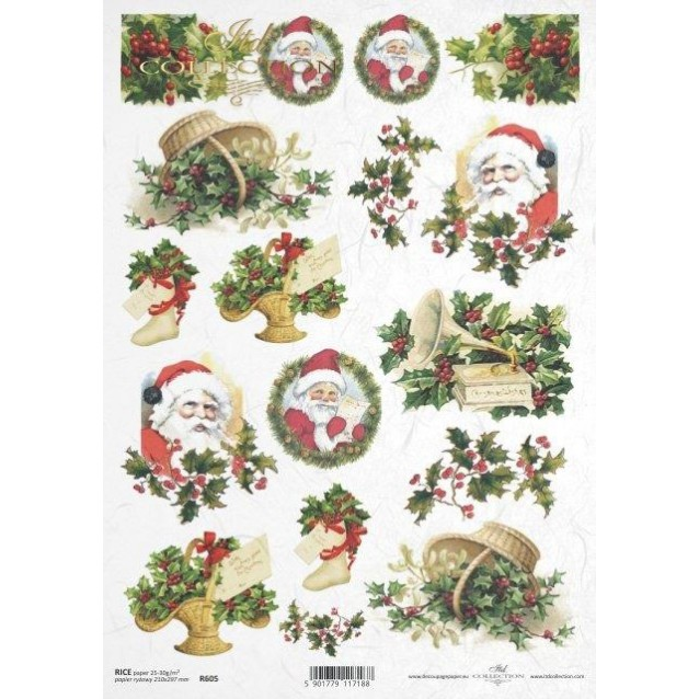 Itd. Collection Ριζόχαρτο Decoupage A4 (21x29,7cm) Christmas Motifs