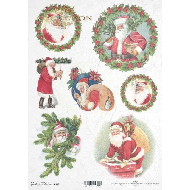 Itd. Collection Ριζόχαρτο Decoupage A4 (21x29,7cm) Christmas Motifs - Santa Claus