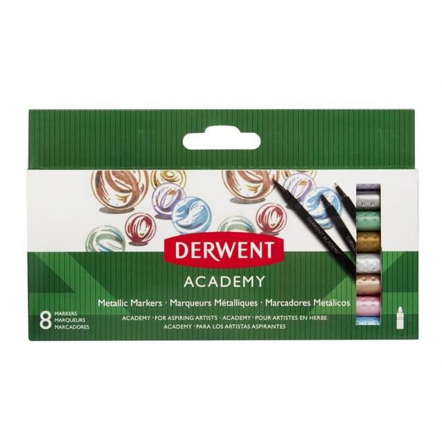Derwent Academy 8 Μεταλλικοί Μαρκαδόροι