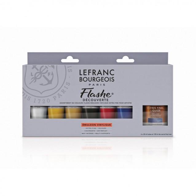 Lefranc & Bourgeois 6X20ml Flashe Acrylic Discovery Set