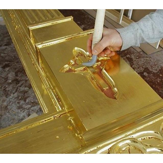 25 Φύλλα Χρυσού 22Κ Διπλόπαχος Γερμανίας 8x8 cm, Κολλητό