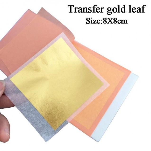 25 Φύλλα Χρυσού 22Κ Φλωρεντίας Αγιογραφίας 8x8cm Κολλητό
